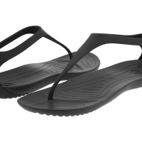 Crocs Sexi Flip (Black/Black) Women's Sandals
