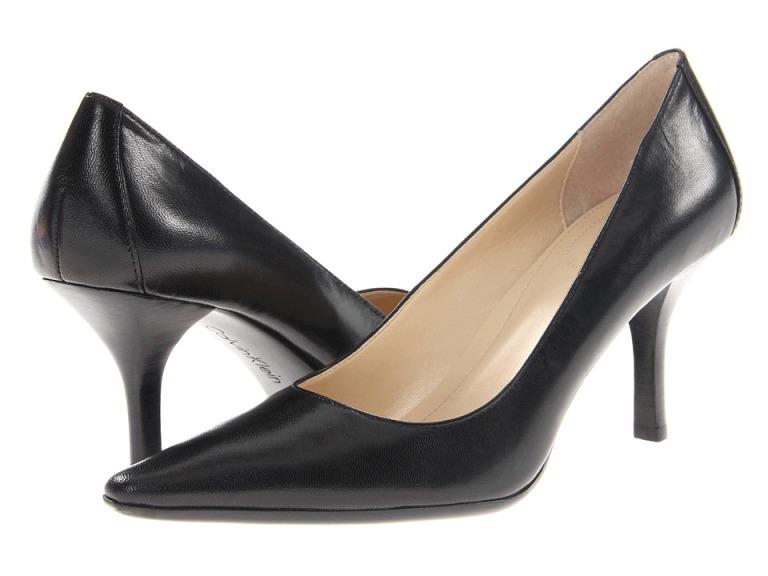 Calvin Klein Dolly (Black Kidskin) High Heels