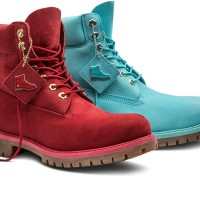 Timberland Limited Edition Fire Red Tide Blue Boots